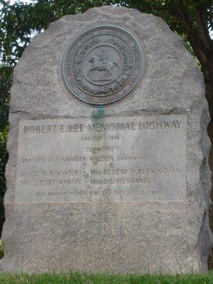 Robert E. Lee Memorial Highway Marker